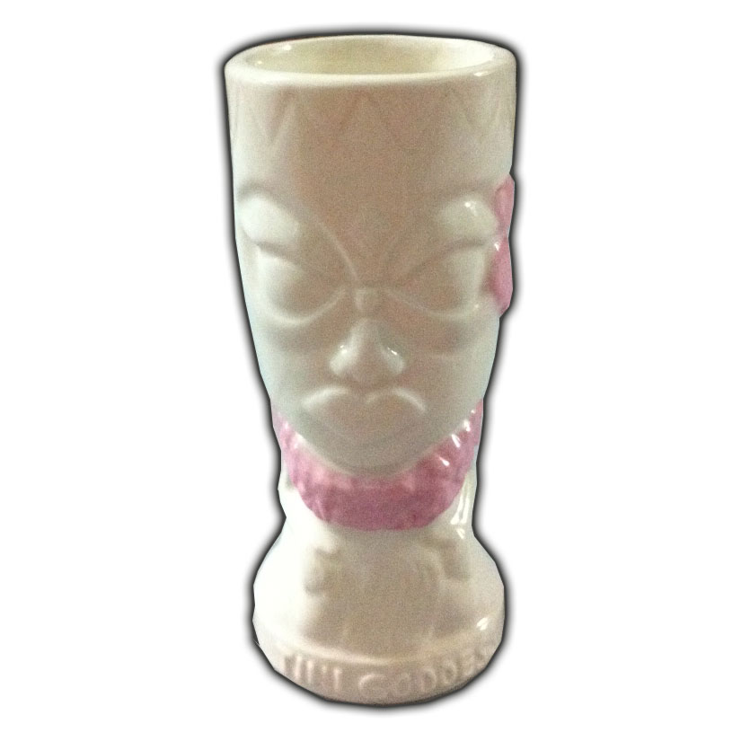 Tiki Shot - Tini Goddess, NEW White glaze