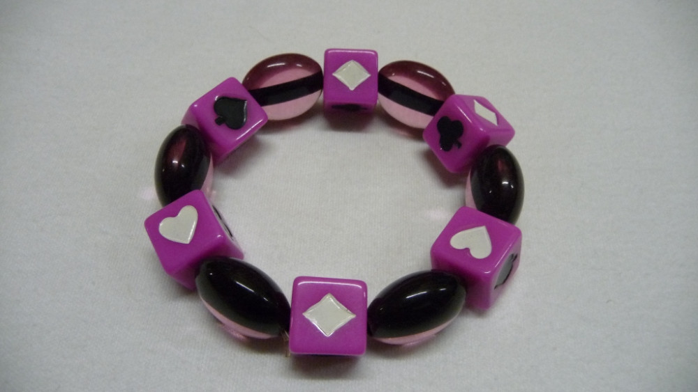 Armband Pokerperlen - in Pink