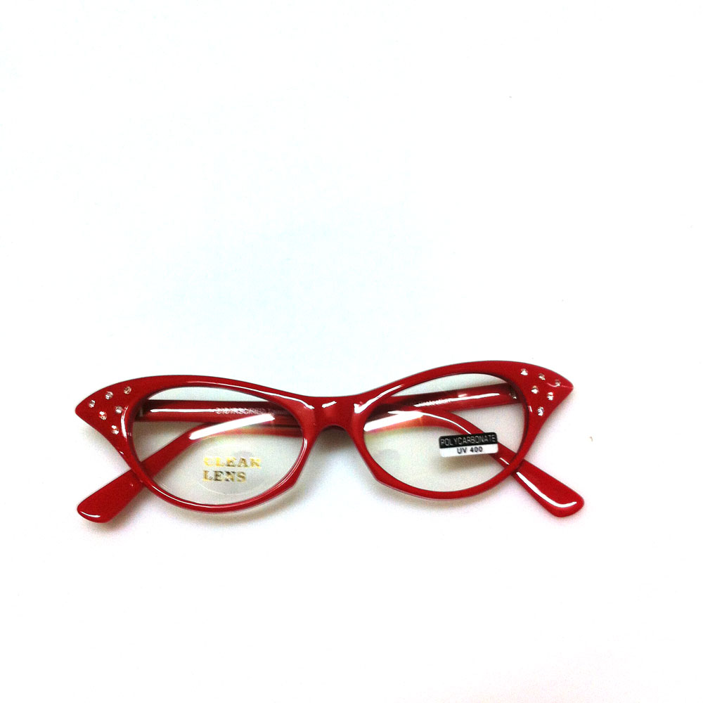 Brille 50s Cateye, rot