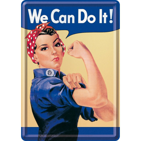 Blechpostkarte - We Can Do It