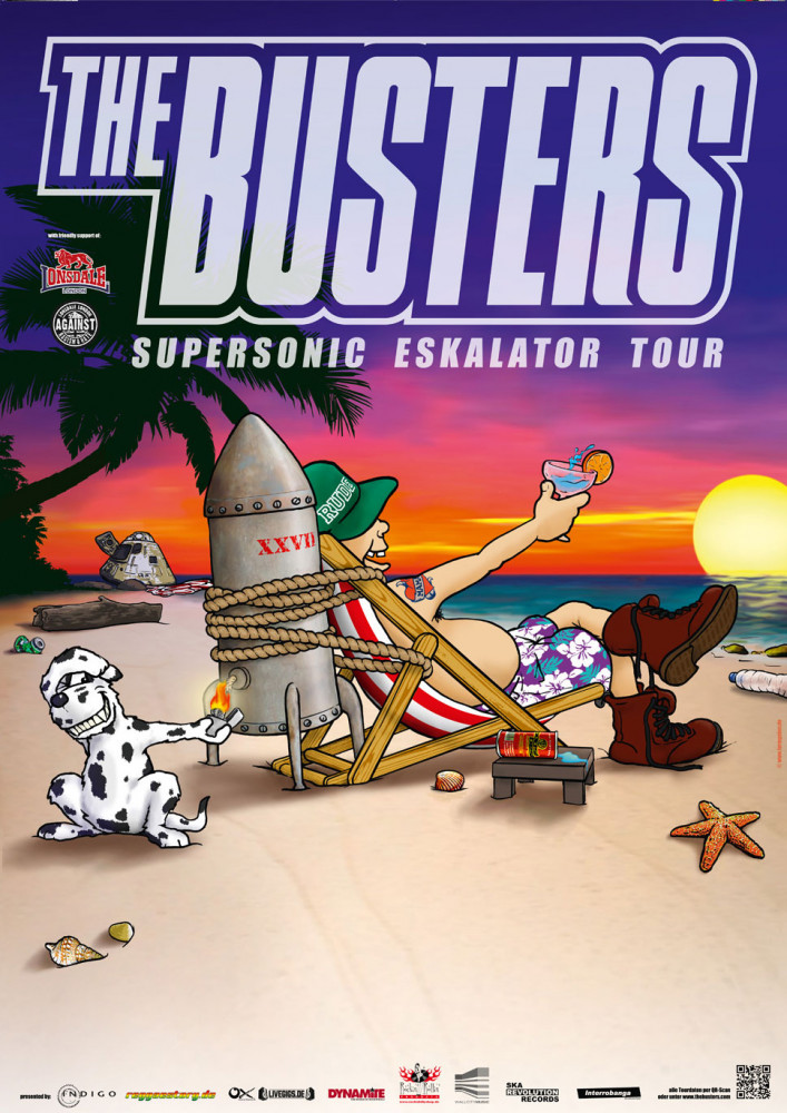 Poster - Busters - Supersonic Eskalator Tour 2015