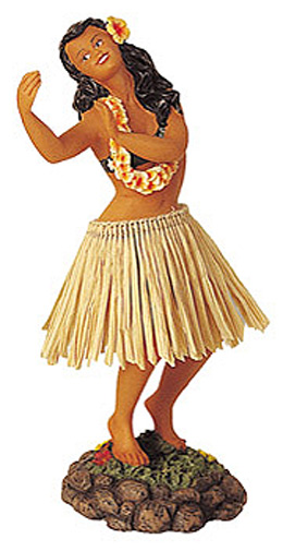 Hula Wobbler - Leilani Dancing, Brown Skirt