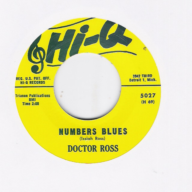 Single - Doctor Ross - Numbers Blues/ Cannonball