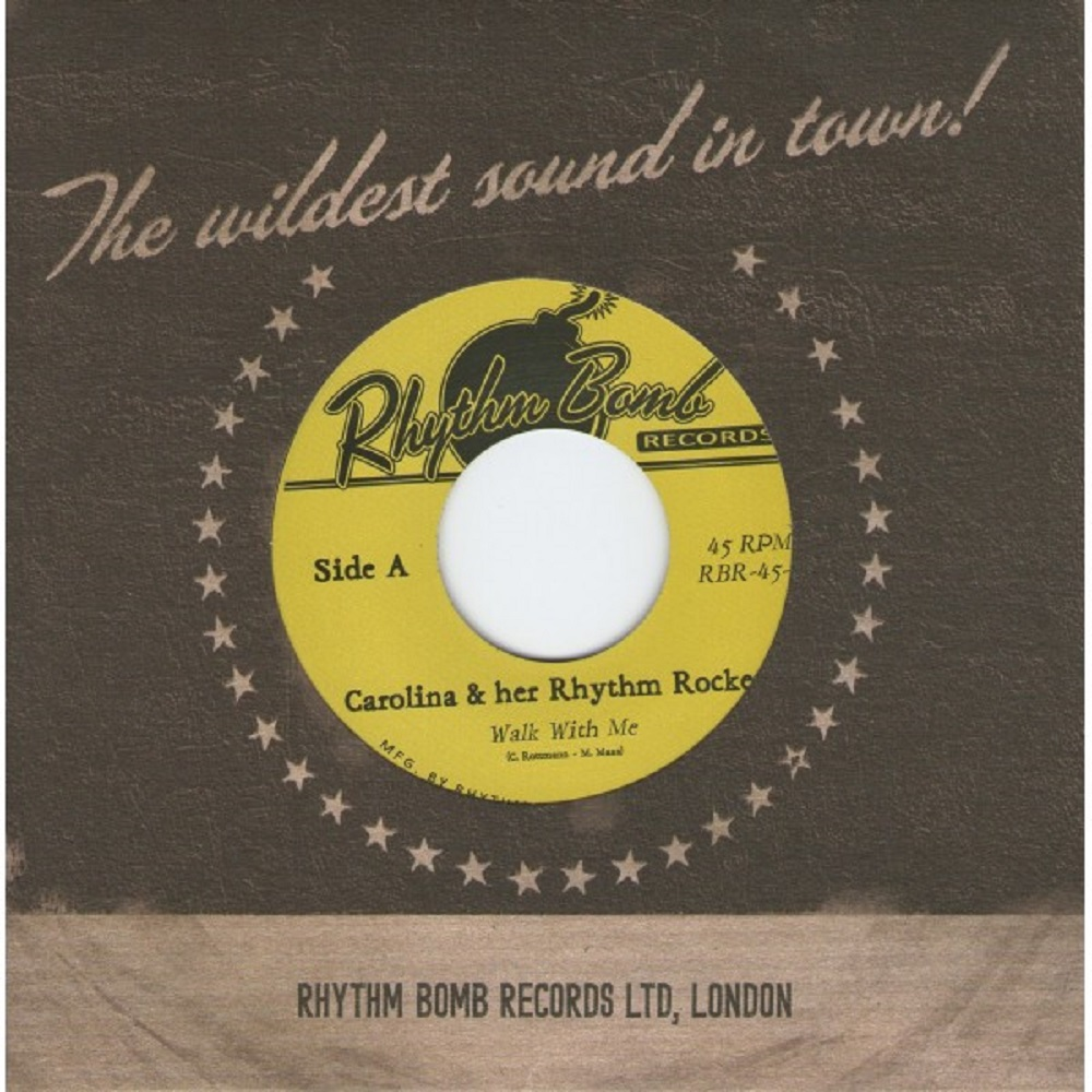 Single - Carolina & Her Rhythm Rockets - Walk With Me, Darling Dear