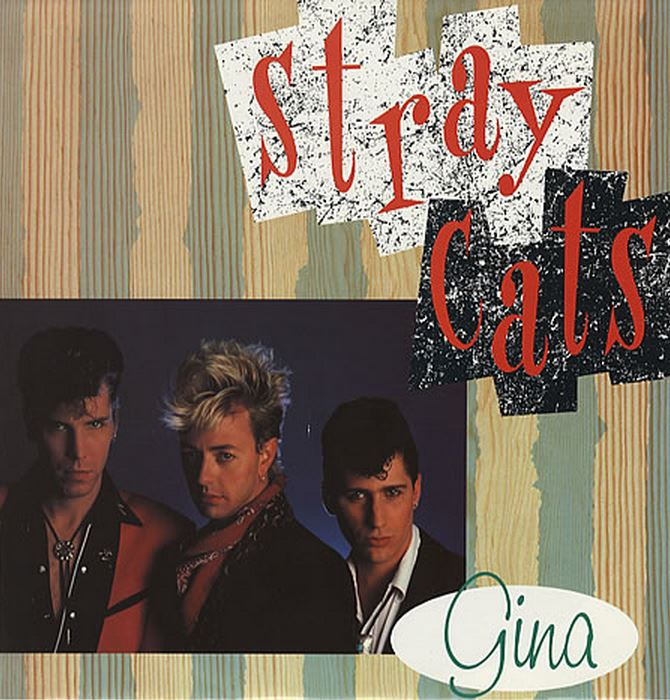LP - Stray Cats - Gina mit Poster-Cover