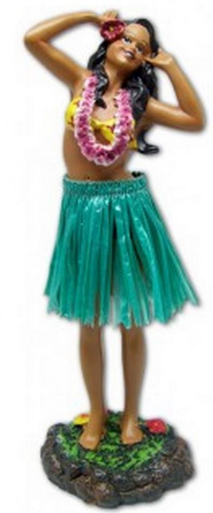 Hula Wobbler - Leilani Singing, Green Skirt