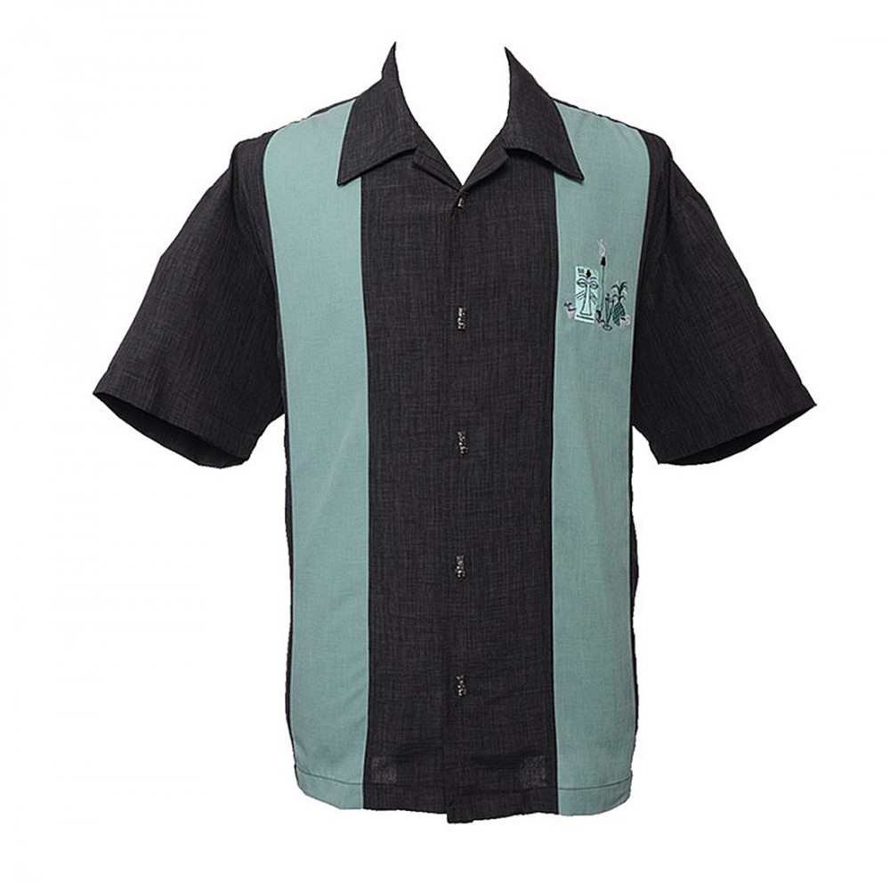 Steady-Hemd - Mickey Button Up, Charcoal