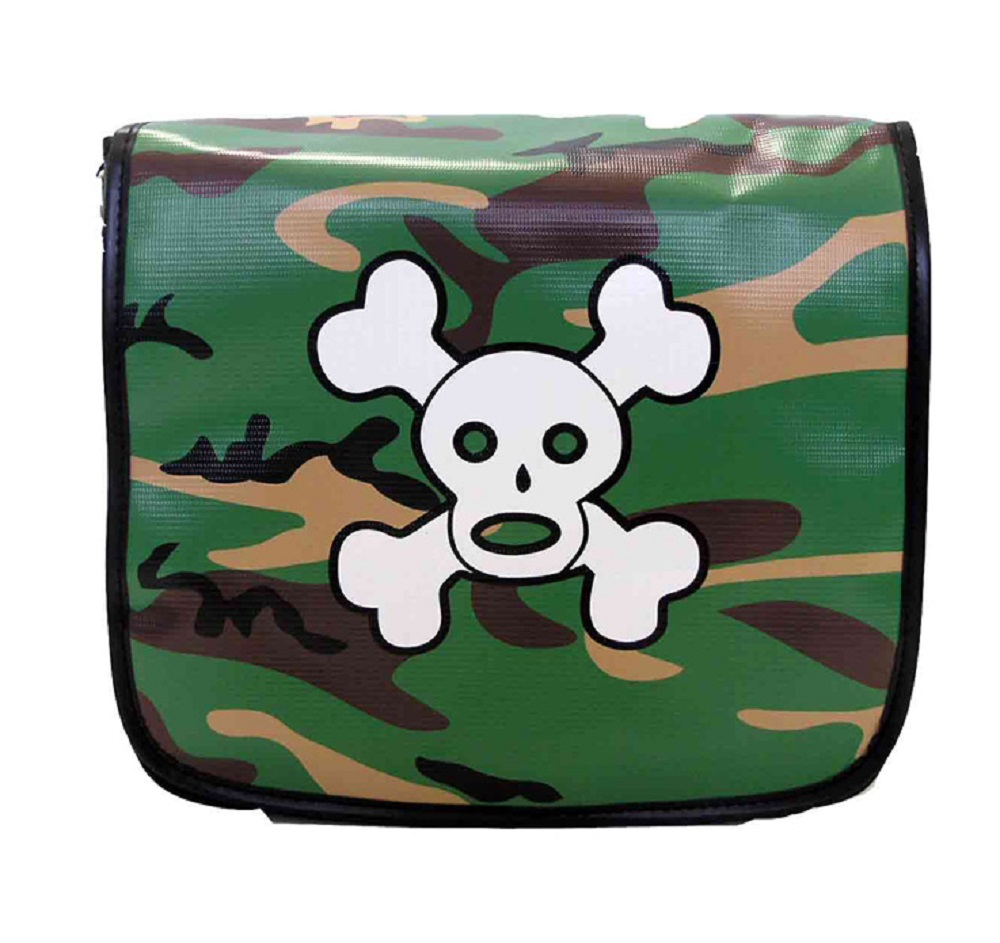 Schultertasche - Skully in Armylook