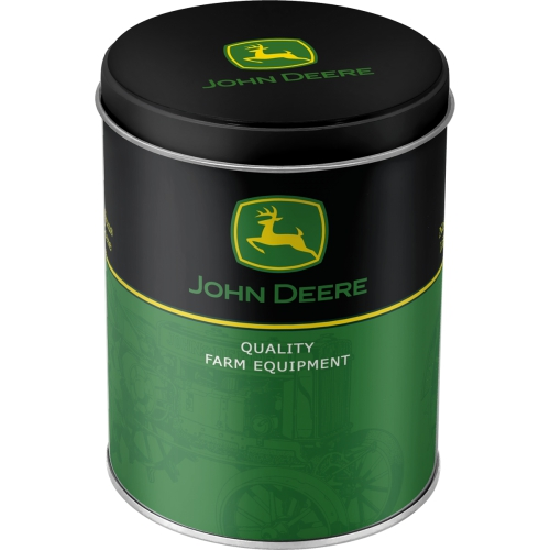 Vorratsdose Rund - John Deere Logo - Black And Green