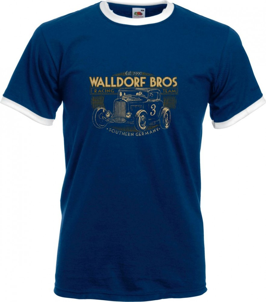 Ringer-Shirt - Walldorf Bros, Blau