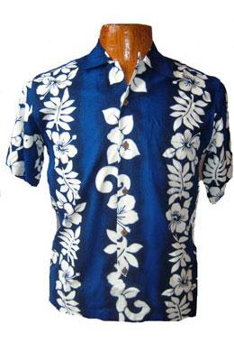 Hawaii-Shirt Für Kinder - San Diego Blau