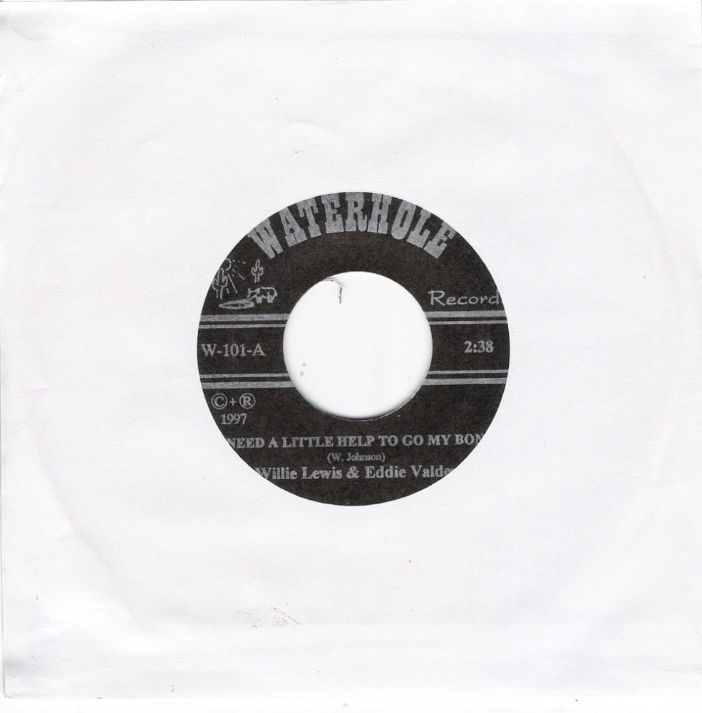 Single - Willie Lewis & Eddie Valdez - I Need A Little Help To Go My Bond, Leave Me Alone With The Blues - red Vinyl