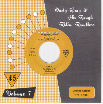 Single - Dusty Gray & his Rough Ridin' Ramblers - Put A Nickle In The Jukebox, Jukebox Is Playin The Blues
