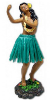 Hula Wobbler - Leilani Dancing, Green Skirt