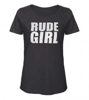 Girl-Shirt - Busters - RUDE GIRL, grau