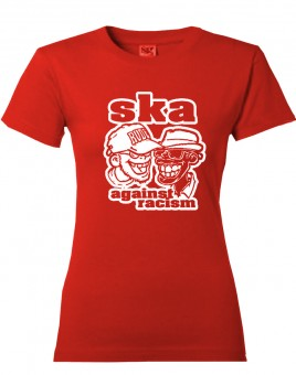 Girl-Shirt - Busters - Ska Against Racism, rot