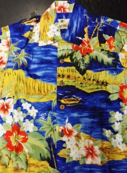 Hawaii-Shirt Für Kinder - Seaside Blau