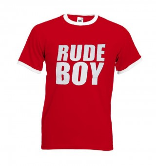 Ringer-Shirt - Busters - RUDE BOY, rot