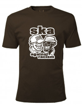T-Shirt - Busters - SKA AGAINST RACISM, braun