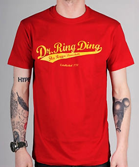 T-shirt - Dr Ring Ding Baseball - rot