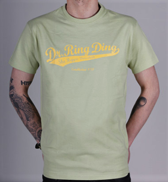 T-shirt - Dr Ring Ding Baseball - lime