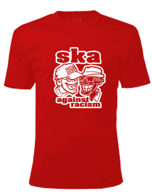 T-Shirt - Busters - SKA AGAINST RACISM, red