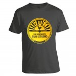 T-Shirt - Sun Records, Dunkelgrau