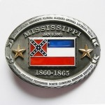 Gürtelschnalle - Confederate Mississippi State Flag - With Gold Stars