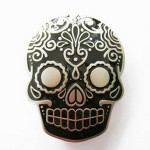 Gürtelschnalle - Tattoo Skull Black