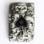 Gürtelschnalle - Tattoo Skulls Ace Spade