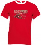 Ringer-Shirt - Part Records Hot Rod, Red