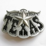Gürtelschnalle - Western Texas Star Black