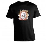 T-shirt Posterpop - Kozik - Flaming Skull