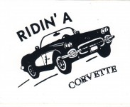 Hot Rod Aufkleber - Ridin A Corvette