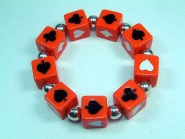 Armband Poker, groß - orange - satt