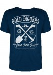 T-shirt Steady - Gold Digger, Blau