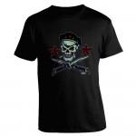 T-Shirt Posterpop - Skull & Flick Knife