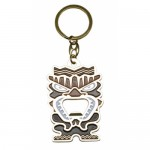 Key Chain - Metall Enamel TIKI Bottle Opener