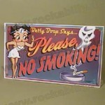 Schild - Betty Boop - No Smoking