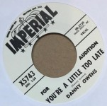 Single - Danny Owens - You?re A Little Too Late/I Think Of You