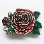 Gürtelschnalle - Western Rose Flower