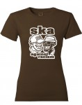 Girl-Shirt - Busters - Ska Against Racism, braun