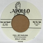 Single - Dolly Lyon - Palm Of My Hand / Call Me Darling