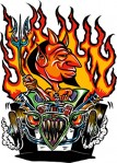 Sticker - Von Franco - Hor Rod Devil