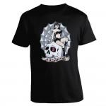 T-Shirt King Kerosin - Girl Sitzend Auf Skull