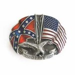 Gürtelschnalle - American Confederate Rebel Flag Eagle