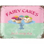 Tine-Plate Sign 30x40 cm - Fairy Cakes - Fresh Every Day