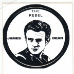 Aufkleber - James Dean - Rebel