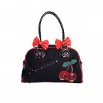 Purse - Black With Red Bows and Skull-Cherrys