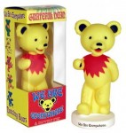 Wackelfigur - Greatful Dead Bear - yellow